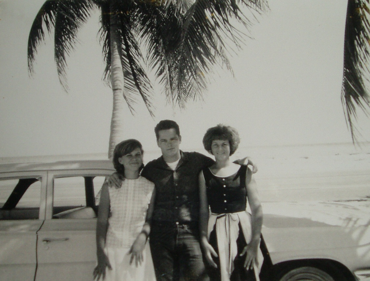 Mickey, Brenda Hinde and Linda Roche on the bridle path in 1966