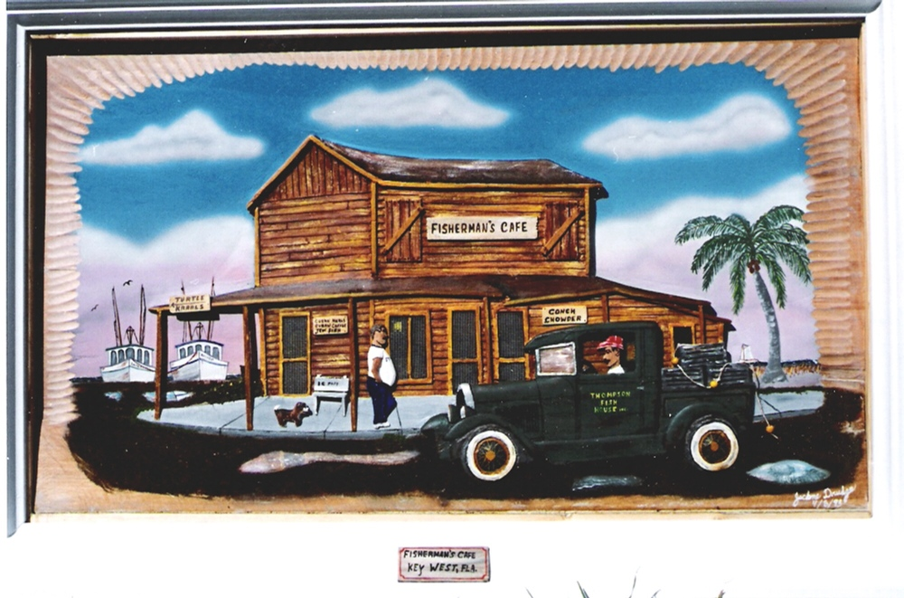 Old Fishermans Cafe, carved and submitted by Jackne Drudge