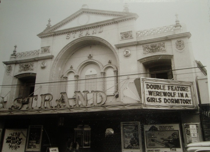 1963 Strand movie theater.  Playing is a Double Feature - Werewolf In A Girls Dormitory / Submitted by Mickey Umble